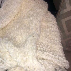 White/cream infinity scarf
